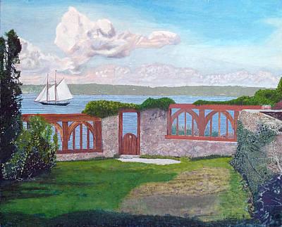 Painting - Schooner Lannon Off Beauport by Laurence Dahlmer
