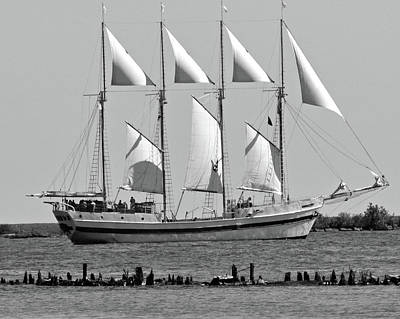 Photograph - Schooner On Lake Michigan No. 1-3 by Sandy Taylor