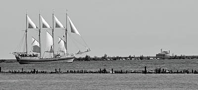 Photograph - Schooner On Lake Michigan No. 1-1 by Sandy Taylor