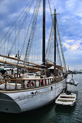 Photograph - Schooner On The Dock by Ron Grafe