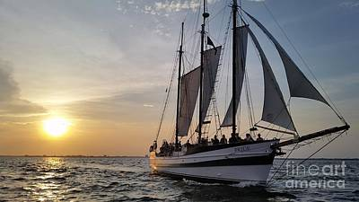 Photograph - Schooner Pride Sunset Charleston South Carolina by Dustin K Ryan