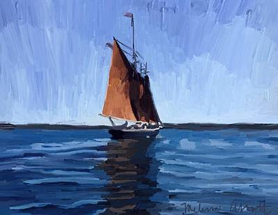 Red Painting - Schooner Roseway In Gloucester Harbor by Melissa Abbott