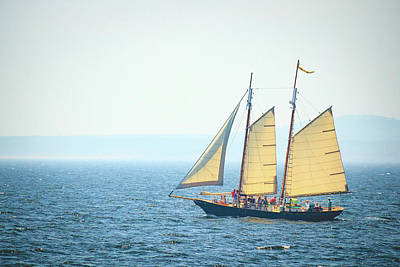 Photograph - Schooner Sailing In Kennebunkport by Joni Eskridge