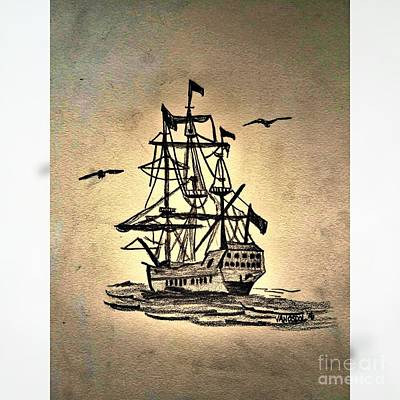 Schooner Sailing Ship Original