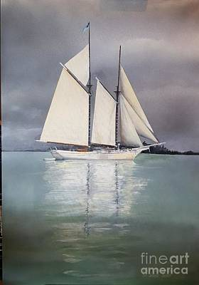 Painting - Schooner by Tim Johnson