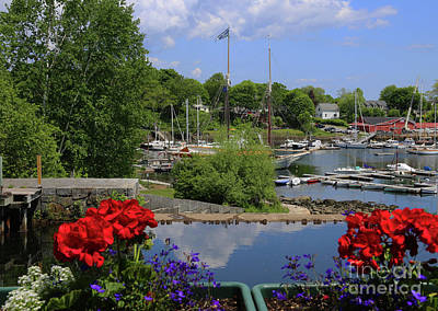Photograph - Schooners And Flowers, Camden, Maine by Marty Fancy