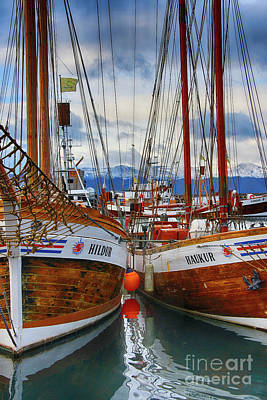 Photograph - Schooners Hildur And Hauker by Chris Thaxter