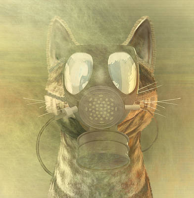 Quantum Science Digital Art - Schrodinger Underestimates The Cat. by Carol and Mike Werner