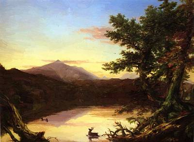 Schroon Lake 1840 Art Print