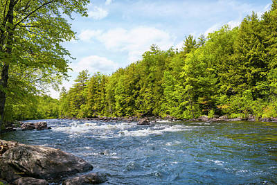 Photograph - Schroon River Adirondack Wilderness by Christina Rollo