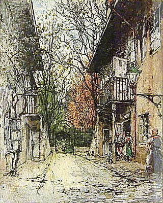 Schubert Painting - Schuberts Birthplace by Luigi Kasimir