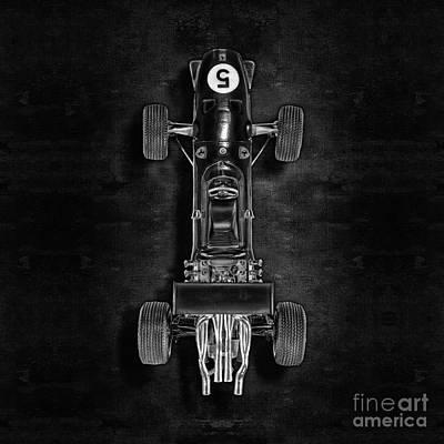 Photograph - Schuco Ferrari Formel 2 Top Bw by YoPedro
