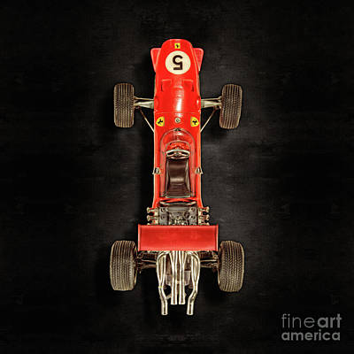 Photograph - Schuco Ferrari Formel 2 Top On Black by YoPedro