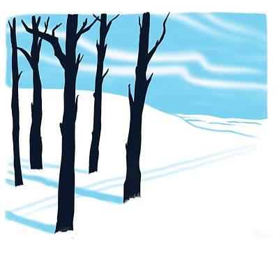 Ski Painting - Schusboomer by Little Bunny Sunshine