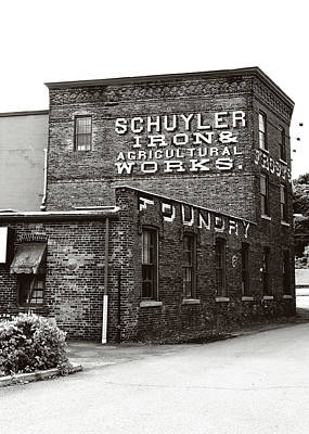 Photograph - Schuyler Iron Building Black And White by Trina Ansel