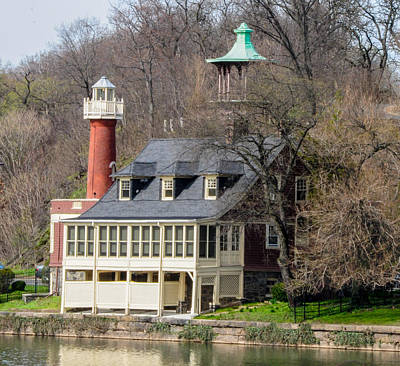 Row Boat Digital Art - Schuylkill Beacon - Turtle Rock Lighthouse by Bill Cannon