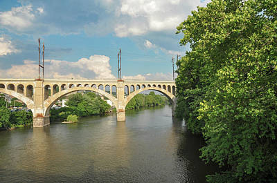 Schuylkill River At The Manayunk Bridge - Philadelphia Art Print by Bill Cannon