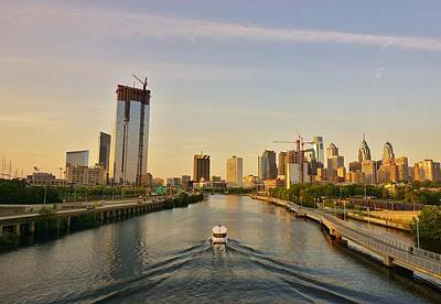 Photograph - Schuylkill River In Philadelphia by Ed Sweeney