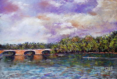 Schuylkill River Rowers Art Print by Joyce A Guariglia