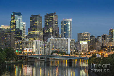 Photograph - Schuylkill River Skyline Reflections 3 by David Zanzinger