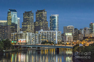 Photograph - Schuylkill River Skyline Reflections 5 by David Zanzinger