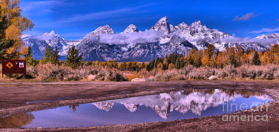 Photograph - Schwabacher Fall Puddle Reflections by Adam Jewell