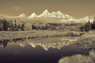Photograph - Schwabacher Landing Sepia Toned by Greg Norrell