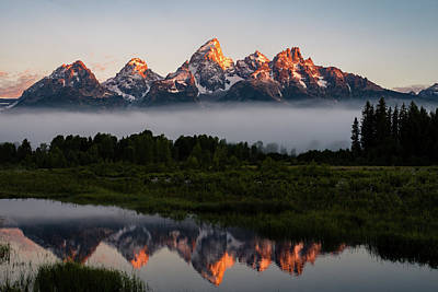 Photograph - Schwabacher Landing Sunrise by Serge Skiba