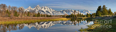 Photograph - Schwabacher Morning Panorama by Adam Jewell
