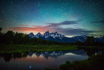 Teton Photograph - Schwabacher Nights by Darren White