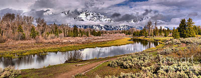 Photograph - Schwabacher Reflections Of The Tetons by Adam Jewell