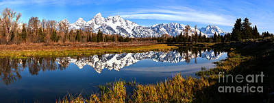 Photograph - Schwabacher Snow Cap Reflections by Adam Jewell