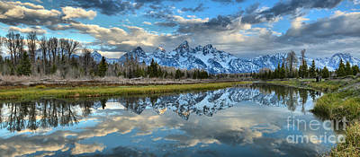Photograph - Schwabacher Spring Clouds by Adam Jewell