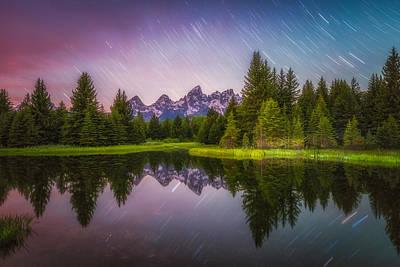 Teton Wall Art - Photograph - Schwabacher Stars by Darren  White