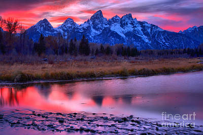 Photograph - Schwabacher Sunset Reflections by Adam Jewell