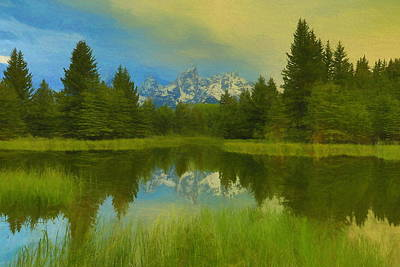 Painting - Schwabachers Landing Sunrise Reflection by Dan Sproul