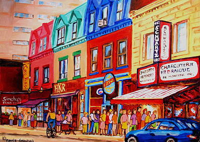 Painting - Schwartz Lineup With Simcha by Carole Spandau