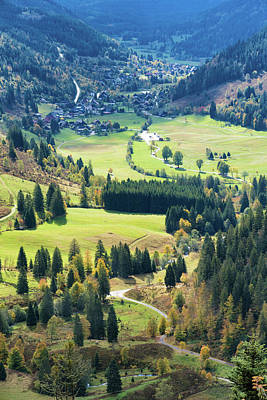 Photograph - Schwarzwald Black Forest Green Valley Germany by Matthias Hauser