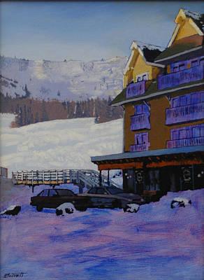 Ski Run Painting - Schweitzer View by Robert Bissett