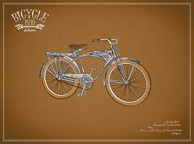Schwinn Bicycle 1939 Art Print by Mark Rogan