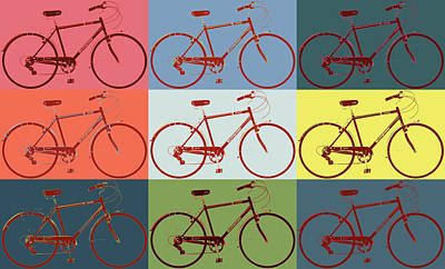 Pigeon Mixed Media - Schwinn Bicycle Pop Art by Dan Sproul