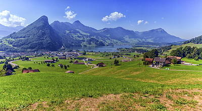 Photograph - Schwyz And Zurich Canton View, Switzerland by Elenarts - Elena Duvernay photo