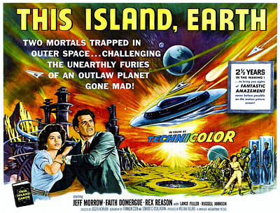 Photograph - Sci-fi Movie Poster 1954 by Padre Art