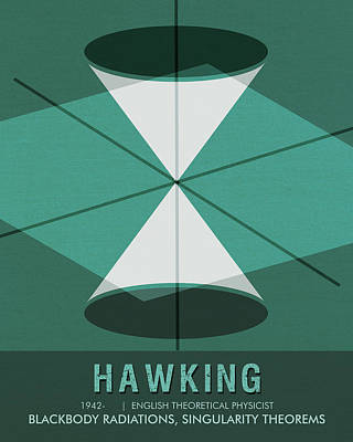 Mixed Media - Science Poster - Stephen Hawking - Theoretical Physicist by Studio Grafiikka