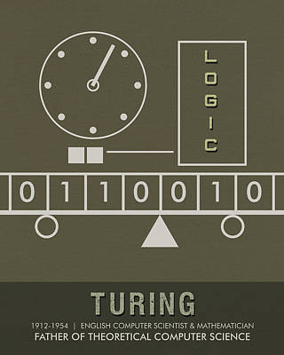 Science Posters - Alan Turing - Mathematician, Computer Scientist Art Print