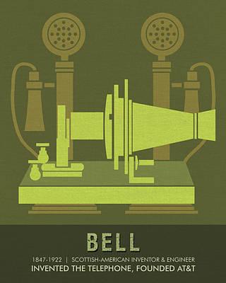 Drawing - Science Posters - Alexander Graham Bell - Inventor, Engineer by Studio Grafiikka