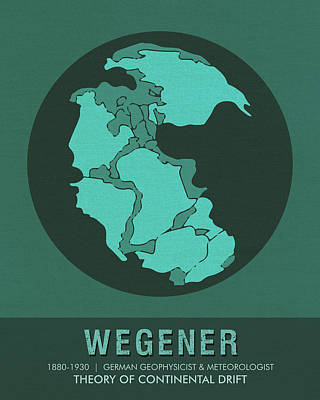 Continental Art Mixed Media - Science Posters - Alfred Wegener - Geophysicist, Meteorologist by Studio Grafiikka