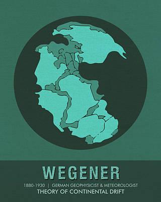 Modern Poster Mixed Media - Science Posters - Alfred Wegener - Geophysicist, Meteorologist by Studio Grafiikka