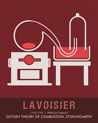 Mixed Media - Science Posters - Antoine Lavoisier - Chemist by Studio Grafiikka