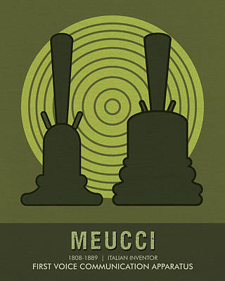 Mixed Media - Science Posters - Antonio Meucci - Inventor by Studio Grafiikka